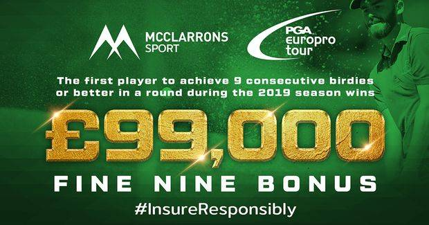 Win £999 in the McClarrons Sport #Fine9 EuroPro Tour competition
